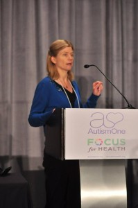 SafeMinds Board Member Dr. Cindy Nevison at Autism One Conference