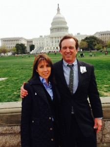 Lyn Redwood and Robert Kennedy Jr.