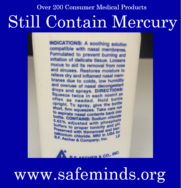 mercury in medical products
